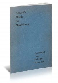 Abbott's Magic For Magicians by Percy Abbott PDF
