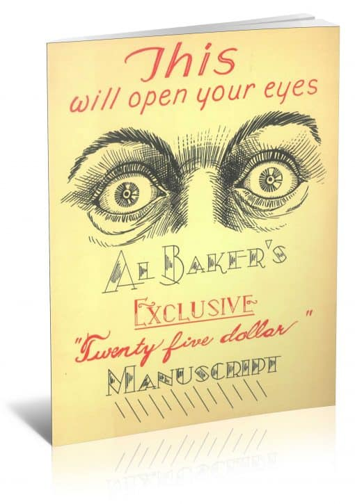 Al Baker's Exclusive Twenty Five Dollar Manuscript PDF