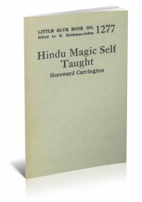 Hindu Magic Self Taught by Hereward Carrington PDF