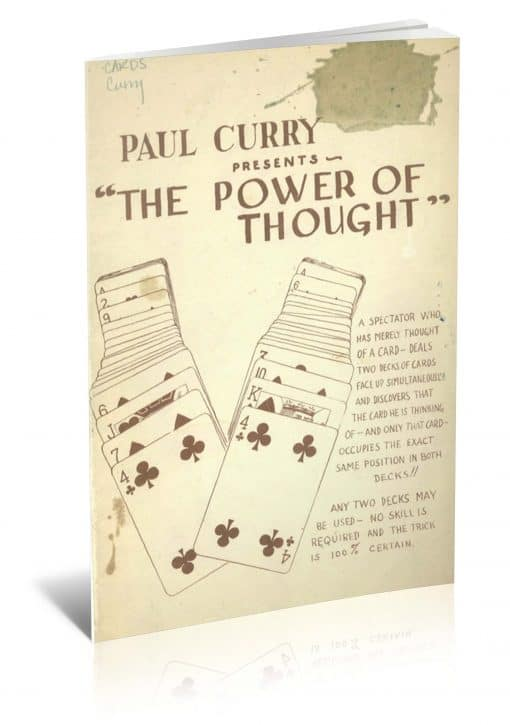 The Power of Thought by Paul Curry PDF