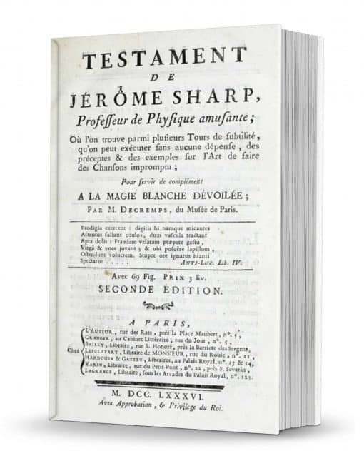 Testament de Jerome Sharpe PDF